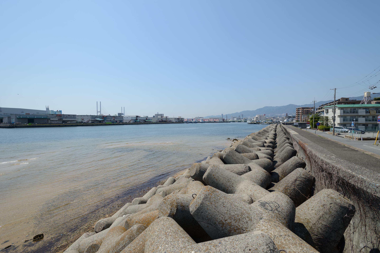 芦屋川から神戸川は延々と ... : 日本 川 地図 : 日本