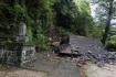 瀬田神社は地震の揺れと、裏の崖からの…