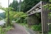 美山名水株式会社の前の歩道にはこんな…
